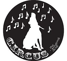 Circus the Singing Dog - B+W Logo black Photographic Print