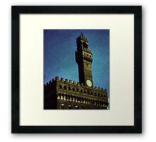 Vintage Florence City Hall Framed Print