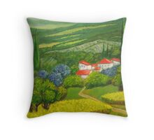 Tuscany Hillside Throw Pillow