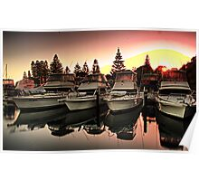 boats at sunrise Poster