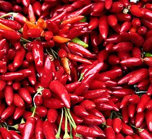 Paprika (Peppers) at a Market Stall.  by PhotoStock-Isra