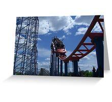 Superman: Ride of Steel, Six Flags America Greeting Card