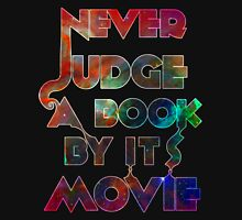 Never Judge A Book By Its Movie - Space Edition! Womens Fitted T-Shirt
