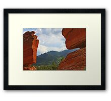 """Garden of the Gods - This place """"ROCKS""""! Framed Print"""