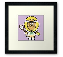 Victor playing tennis Framed Print