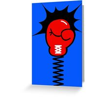 Comic Book Boxing Glove on Spring Pow Greeting Card