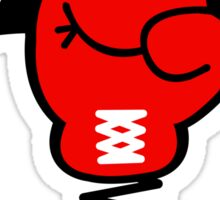 Comic Book Boxing Glove on Spring Pow Sticker
