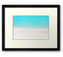 Sand beach with turquoise sea waves Framed Print