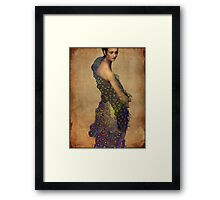 Peacock dress Framed Print