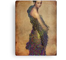 Peacock dress Metal Print