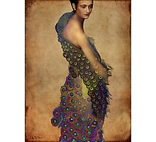 Peacock dress Photographic Print