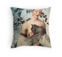 Madonna of the tree Throw Pillow