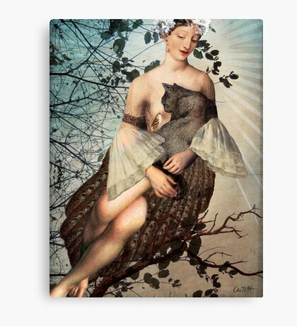 Madonna of the tree Canvas Print