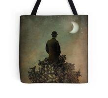 Man in tree Tote Bag