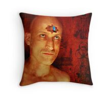 Primitive Man Throw Pillow