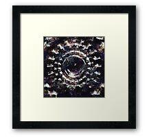 The dark grungy eye Framed Print