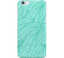 Abstract seamless hand-drawn floral wavy tangle background pattern. iPhone Case/Skin