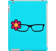Geek Girl Black Glasses Pretty Colourful Flower iPad Case/Skin