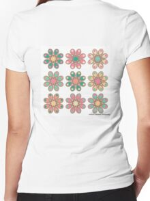 Candy Foot Flowers Women's Fitted V-Neck T-Shirt