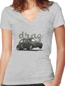 Drag! Women's Fitted V-Neck T-Shirt