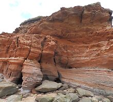 Rugged Rocks at Hilbre Islands- West Kirby Wirral by kytephotography