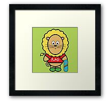Victor the skateboarding dude Framed Print