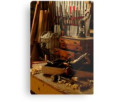 Craftman's Work Bench Metal Print
