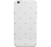 Dots seamless pattern. Soft grey background. iPhone Case/Skin
