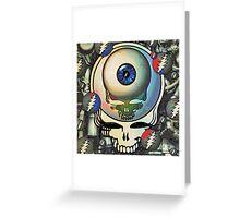 Steampunk Stealie Greeting Card