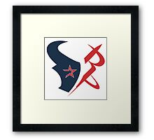houston texans rockets logo Framed Print
