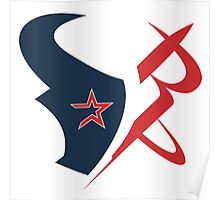 houston texans rockets logo Poster