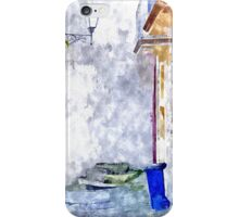 Laureana Cilento: trash cans blue iPhone Case/Skin