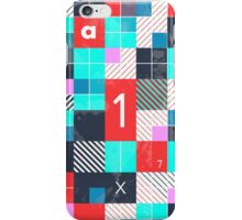 Minimal abstract geometric pattern iPhone Case/Skin