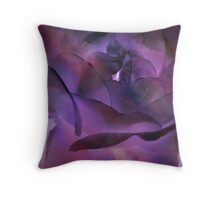 Tissue Paper Rose Throw Pillow