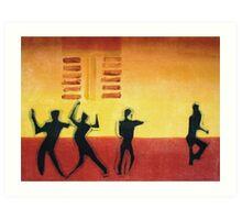Disco Dancers Art Print