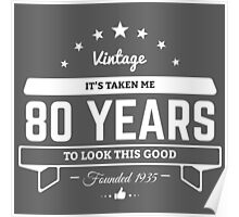 80th Birthday Gift Poster