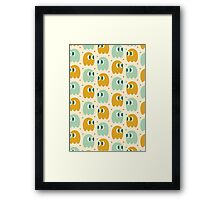 Retro Ghost Pattern Framed Print