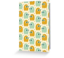 Retro Ghost Pattern Greeting Card