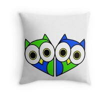 Owl Hearted Throw Pillow