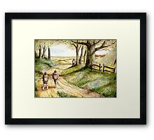 Three is Company Framed Print