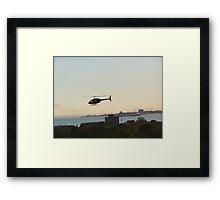 Helicopter over Albert Park Framed Print