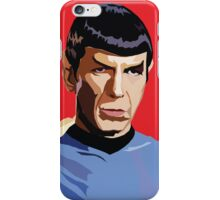 RED SPOCK iPhone Case/Skin
