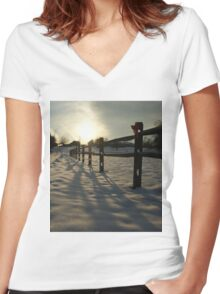 Fence Set Women's Fitted V-Neck T-Shirt