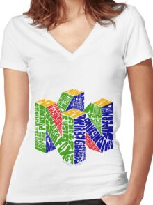 N64 Bits Women's Fitted V-Neck T-Shirt