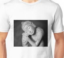 Black and white Buddha Unisex T-Shirt