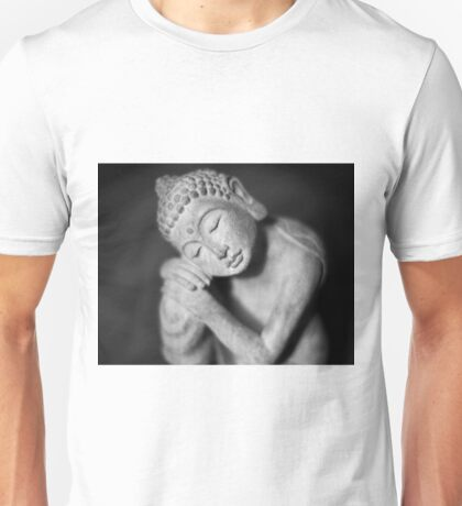 Black and white Buddha Unisex T-Shirt