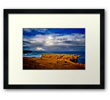 """""""At The Edge, In The Face Of A Storm"""" Framed Print"""