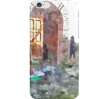 Laureana Cilento: door with cat and jacket iPhone Case/Skin