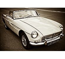 White convertible MG Photographic Print