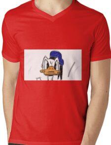 Hand made Donald Duck Mens V-Neck T-Shirt